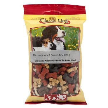 Classic Dog Snack Miniknochen 5 Sorten Mix 200g VE 12x