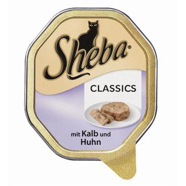 Sheba Schale Classics mit Kalb & Huhn 85g VE 22x