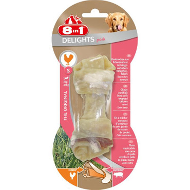 1x 8in1 Delights Pork Kauknochen S  – Bild 1