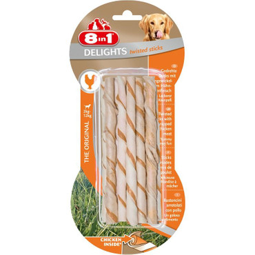 1x 8in1 Delights Twisted Sticks 10 Stück – Bild 1