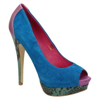 Ladystar by Daniela Katzenberger Kelly Damen Schuhe Pumps High-Heels Leder blau 001