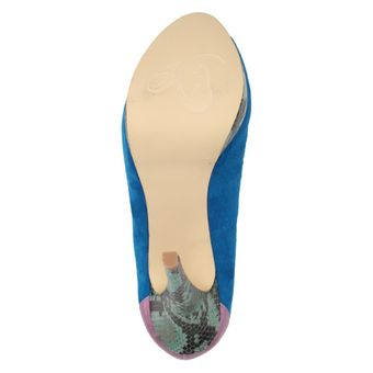 Ladystar by Daniela Katzenberger Kelly Damen Schuhe Pumps High-Heels Leder blau – Bild 6