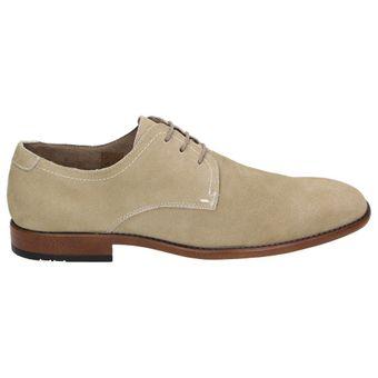 Bottesini Herren Schuhe Leder Business Schnürer 840701 Beige / Sand – Bild 2