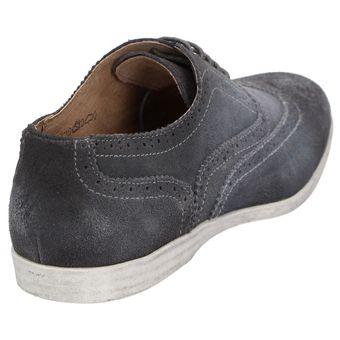 Roberto Ravenelli sportive Herren Schuhe, lässige Leder Schnürschuhe Grau – Bild 4