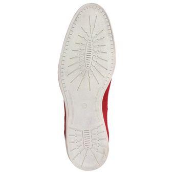 Roberto Ravenelli Herren Leder Schuhe, sportiv und lässig, Derby Schnürschuhe Rot – Bild 6