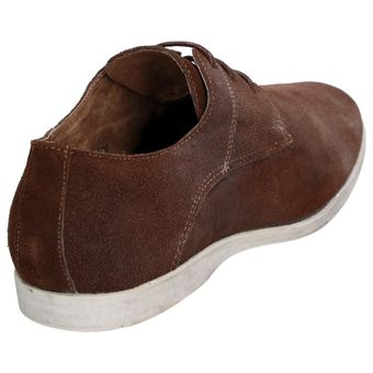 Roberto Ravenelli Herren Leder Schuhe Derby Schnürschuhe, Braun – Bild 3