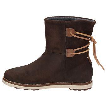 Napapijri Lova mid boot 0575400-046 Damen Mädchen Leder Winter Boots Dunkelbraun – Bild 4