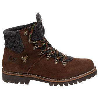 Napapijri Jan mid Lace 0584330-094 Herren Leder Schnür-Boots Schuhe Stiefelette Filz Dunkelbraun – Bild 2