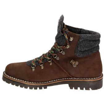Napapijri Jan mid Lace 0584330-094 Herren Leder Schnür-Boots Schuhe Stiefelette Filz Dunkelbraun – Bild 4