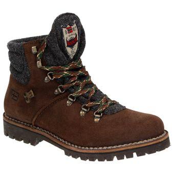 Napapijri Jan mid Lace 0584330-094 Herren Leder Schnür-Boots Schuhe Stiefelette Filz Dunkelbraun 001