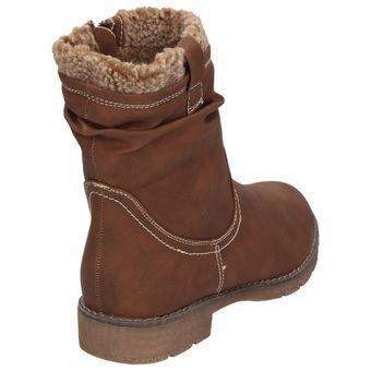 Jane Klain 264366-456 Damen Winterstiefelette Teddyfutter Schuhe Boots Cognac Braun – Bild 3