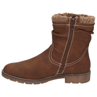 Jane Klain 264366-456 Damen Winterstiefelette Teddyfutter Schuhe Boots Cognac Braun – Bild 5
