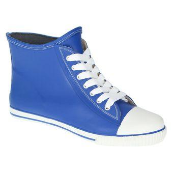 Buffalo 511-7483 RUBBER, Damen Gummistiefel High-Top Sneaker Blau Grau Grün Pink – Bild 14