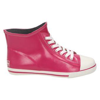 Buffalo 511-7483 RUBBER, Damen Gummistiefel High-Top Sneaker Blau Grau Grün Pink – Bild 3