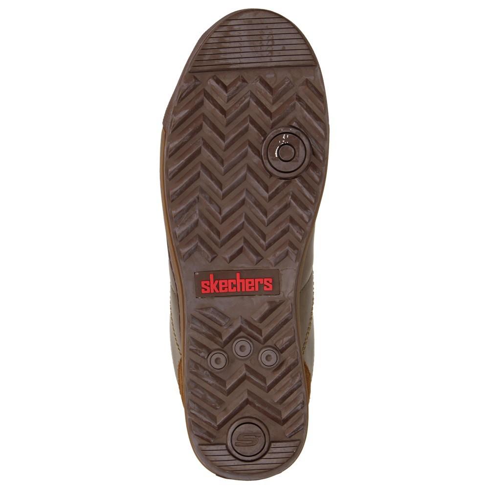 Skechers Kicks Damen Fashion Schuhe Leder Sneaker Halbschuhe Schnürer  Metallic Bronze – Bild 6 ceb589405b