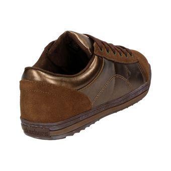 Skechers Kicks Damen Fashion Schuhe Leder Sneaker Halbschuhe Schnürer Metallic Bronze – Bild 3