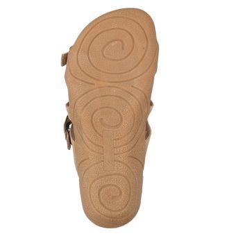 Andrea Conti Damen Sommer Schuhe Sandale Clogs Freizeit Pantoletten Braun Taupe Leder – Bild 6