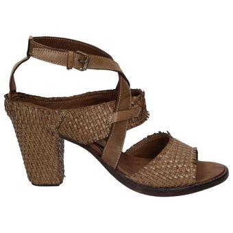 Area Forte AD1750 Damen Schuhe Leder Sandalette Riemchen geflochten – Bild 2
