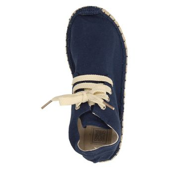 Colors of California Artcrafts Kinder Schuhe Unisex Espadrille Canvas Halbschuhe Bast Blau (Navy) – Bild 5