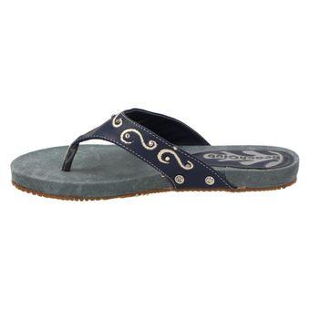 Beach Club Kinder Schuhe Mädchen Strass Zehentrenner Sandale Denim-Look Freizeit Blau – Bild 4