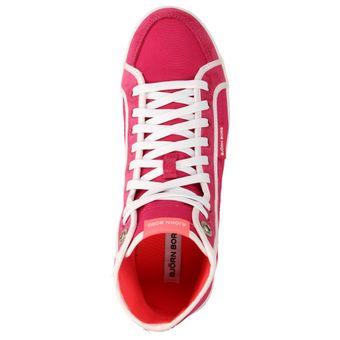 Björn Borg LLOYD MID NYL Damen Schuhe High-Top Sneaker Freizeit Schnürer Leder pink – Bild 5