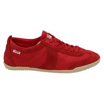 Buffalo Damen Schuhe Wildleder Sneaker Halbschuhe Freizeit Schnürer Rot (RED) – Bild 2