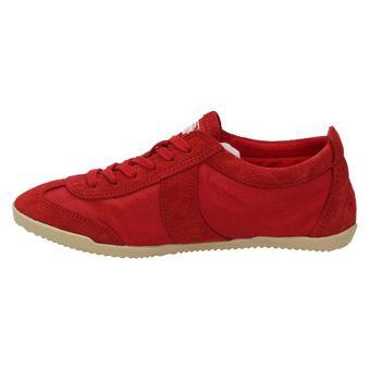 Buffalo Damen Schuhe Wildleder Sneaker Halbschuhe Freizeit Schnürer Rot (RED) – Bild 4