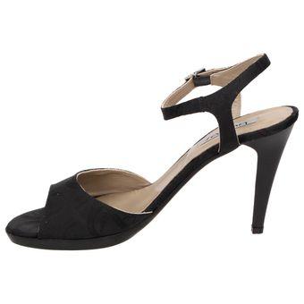 Byblos MELITA Damen Schuhe High-Heels Riemchen Sandalette Stiletto Peep-Toe schwarz – Bild 4
