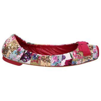 Apepazza CINDY MULTI PATCH Damen Schuhe Ballerinas Textil Flats Leder geblümt – Bild 2