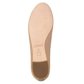 ESPRIT Thea Damen Schuhe Klassische Ballerinas Freizeit Slipper Leder Beige (wet sand 283) – Bild 6