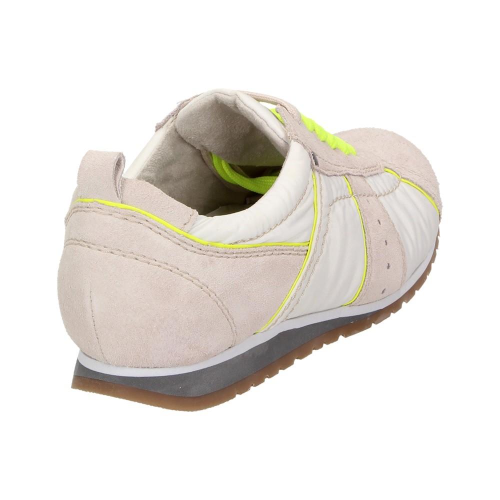 66d5cd21b5f51e Jana Fashion Damen Schuhe Freizeit Sneaker Leder Retro Turnschuhe Schnürer  Neon Schuhgröße  41 – Bild