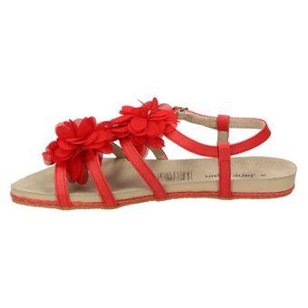 Jane Klain 271 314 Damen Schuhe Riemchen Sandalen Leder-Sohle Blumen Rot – Bild 4