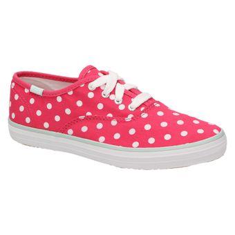 Keds Kids CHAMPION CVO KY46274E Damen Schuhe Mädchen Sneaker Schnürer Canvas Halbschuhe Polka Dots 001