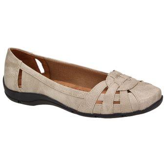 Life Stride DISTRICT #2 Damen Schuhe Ballerinas Komfort Slipper Freizeit Flats beige 001