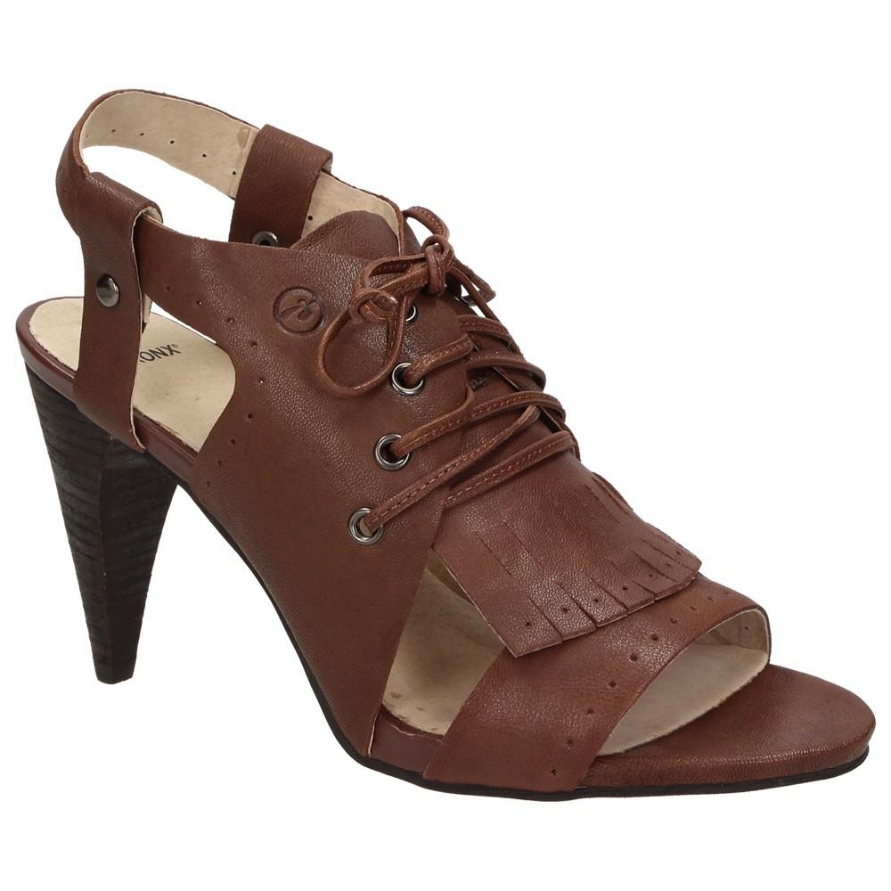 Damen Sling Sandalette Bronx Hochfront Juma Schuhe Back Leder Saddle PukZTOiX