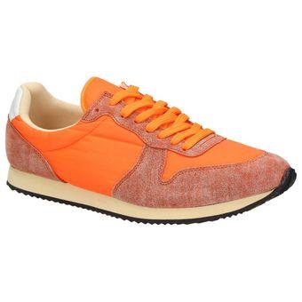 Nat-2 n2 Fast Herren Schuhe Neon Retro Sneaker Orange Halbschuhe Schnürer Leder 001