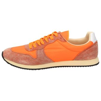 Nat-2 n2 Fast Herren Schuhe Neon Retro Sneaker Orange Halbschuhe Schnürer Leder – Bild 4