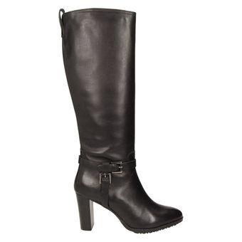 Buffalo London Damen Schuhe Langschaftstiefel elegante Winterstiefel Leder schwarz – Bild 2
