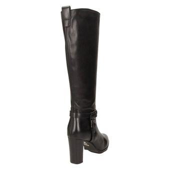 Buffalo London Damen Schuhe Langschaftstiefel elegante Winterstiefel Leder schwarz – Bild 3