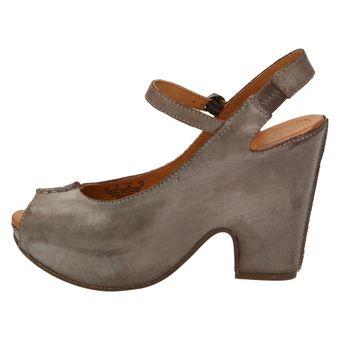 Naya MAEVE B6082L2203 Damen Schuhe Keilabsatz Plateau Pumps Peep-Toe Wedges Leder Braun – Bild 4