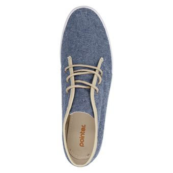 Pointer KC I014755 Damen Schuhe High-Top Sneaker Schnürhalbschuhe Canvas Schnürer Navy Chambray – Bild 5