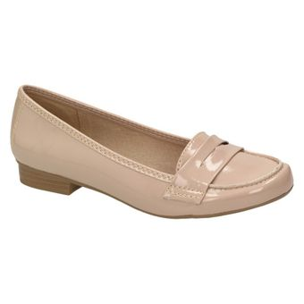 Queens HCL0402 Damen Schuhe Lack Ballerinas Flats Freizeit Slipper Pumps Loafer Beige Nude 001