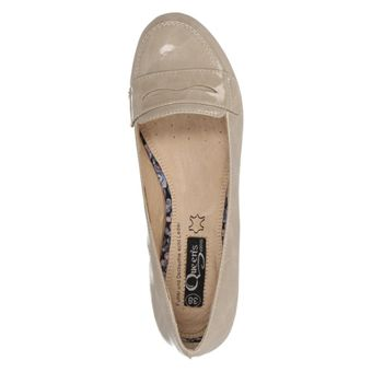 Queens HCL0706 Damen Schuhe Ballerinas Keilabsatz Pumps Lack Wedges Slipper (stone 10) – Bild 5
