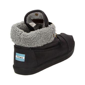TOMS Fleece Botas Herren Schuhe High-Top Winter Sneaker Freizeit Boots Schnürer schwarz – Bild 3