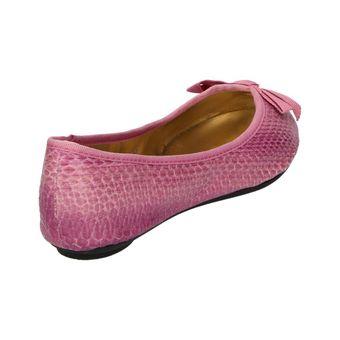 Zap Siasi Damen Schuhe Ballerinas Slipper Snake Flats Schlangenmuster Schleife pink – Bild 3