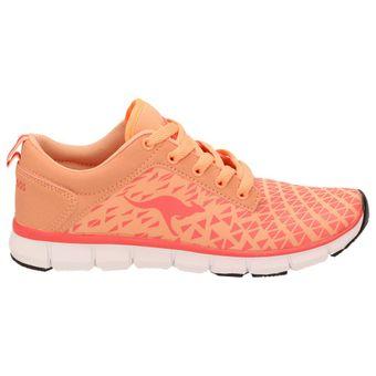 KangaROOS 8005A-777 Damen Mädchen Laufschuhe Fitness Sport Sneaker, Orange Pfirsichfarben Weiß – Bild 3
