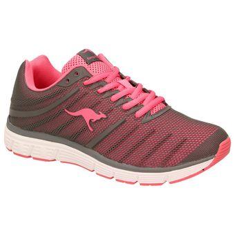 KangaROOS 8007A-269 Damen Mädchen Laufschuhe Fitness Sport Sneaker Pink Grau 001
