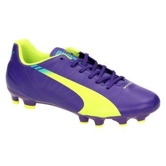 Puma evoSPEED 5.3 FG Jr. Jungen Schuhe Fußball Sport Freizeit violett 001