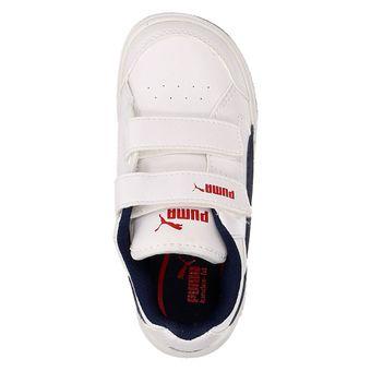 Puma Rebound v2 LO Kids Unisex Kinder Schuhe Sport Freizeit weiß – Bild 5