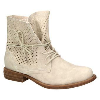 Jane Klain 251-129 Damen Schuhe Combat-Boots Stiefelette Schnürschuh Stiefelette Leder-Optik – Bild 2